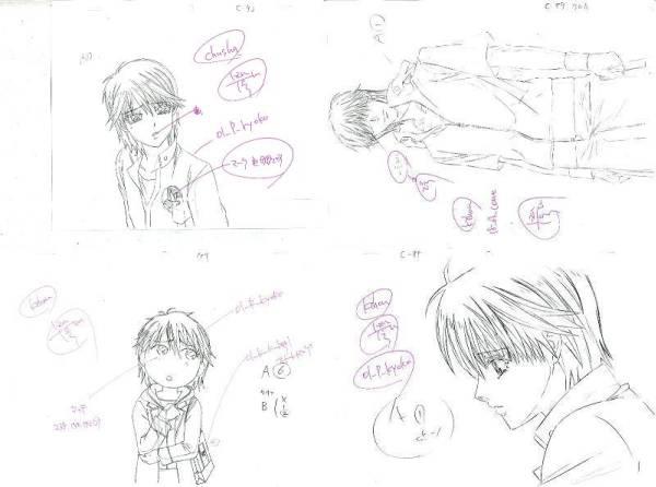 settei, genga, douga layout, storyboard Genga-01